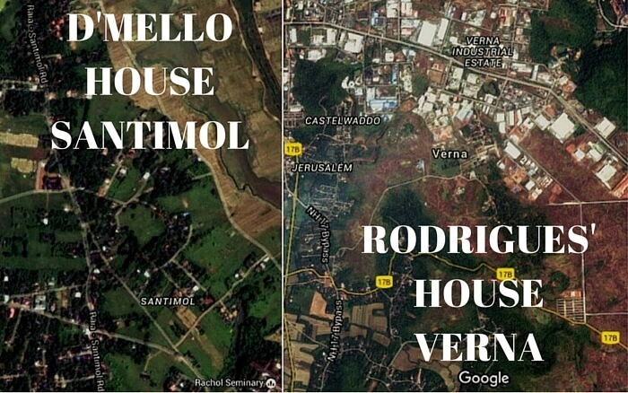 DMello House at Santemol and Rodrigues Home at Verna in Goa