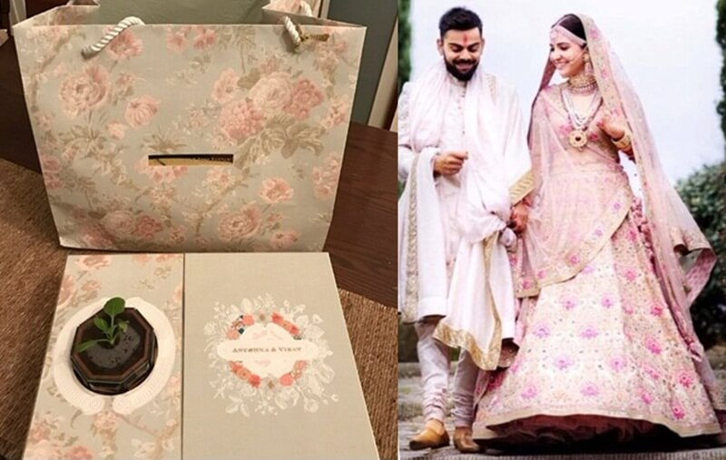 Virushka wedding Reception Card