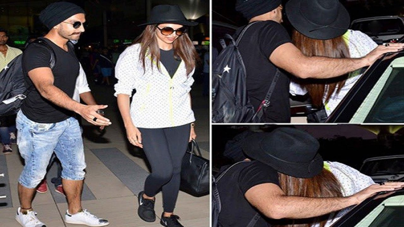 Deepika Padukone looks stunning as Ranveer Singh drops her at the airport