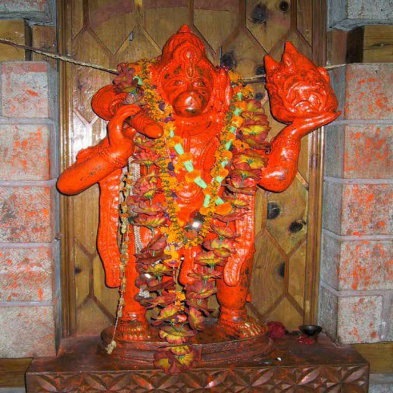 The deity once applied sindoor all over his body for Lord Rama's long life