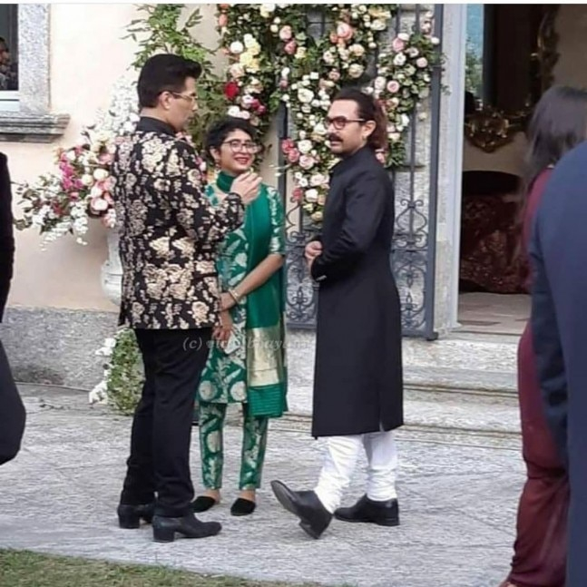 Karan Johar, Kiran Rao and Aamir Khan